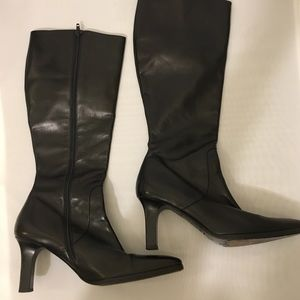 Ann Taylor classic leather dress boots